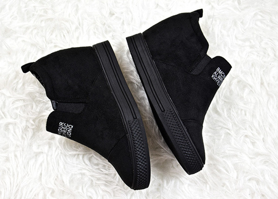 Black Slip On Sneakers wedges Danica