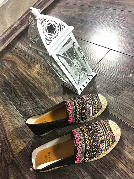 LU BOO ESPADRILLES SLIP ON FLAXY