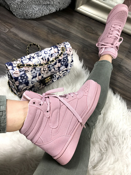 Pink Sneakers Wedges Brooklyn
