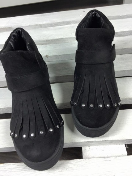 Black Sneakers Fringe Magnetic