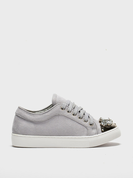 LU BOO sneakers with glitter jewels