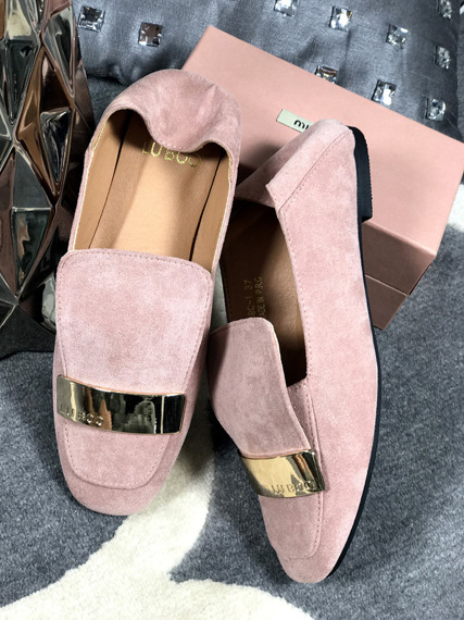 Lu Boo Pink loafer with badge Molly
