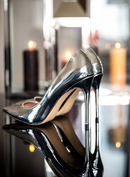 Silver Mirror High Heels Joelle