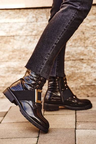 Women's Boots Black Happy Su