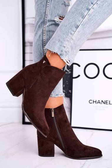 Women's Boots On Heel Brown So Good