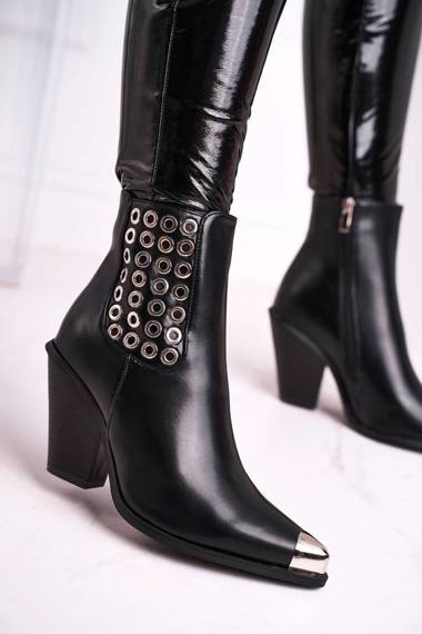 Women's Boots Steel nose piece Black Only Time