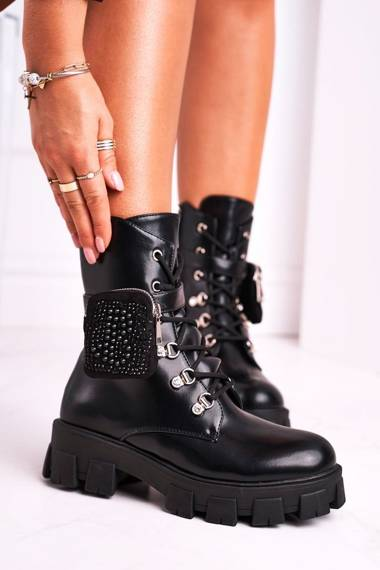 Women's Boots With Small Bag Black Seul