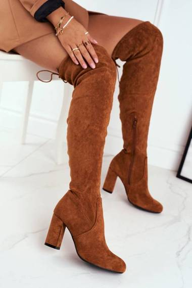 Women's High Boots Suede Camel Highso