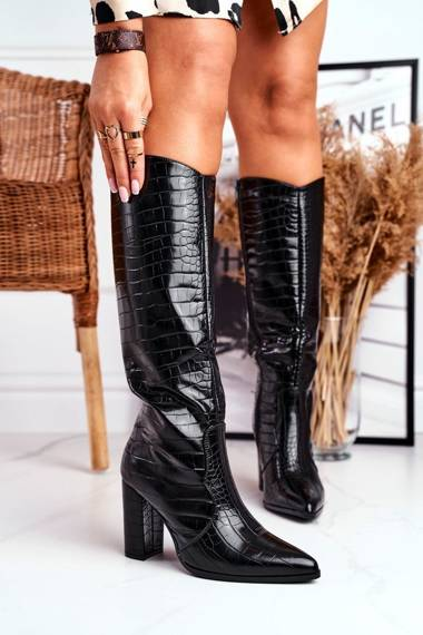 Women's High Boots Warm Black Priority