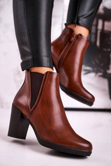 Women's Insulated Ankle Boots Sergio Leone Brown BT311