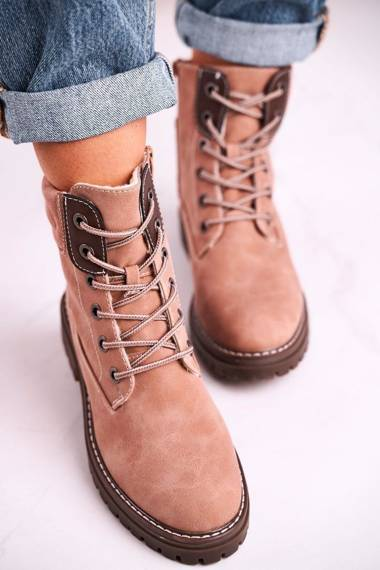Women's Insulated Workers Boots Pink Timber