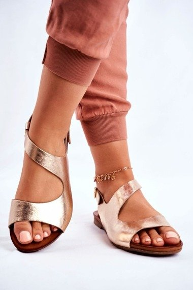 Women's Sandals Laura Mess 1116 Polish Leather Gold Vollare