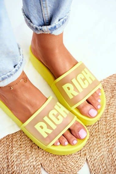 Women's Slippers Platform Yellow RICH