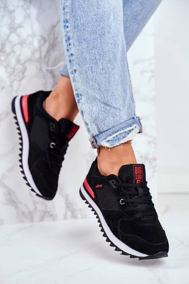 Women's Sport Shoes Sneakers Big Star Black