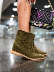 Classic green ankle boots