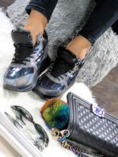 Lu Boo Holographic Sneakers Wedge