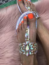 Mermaid Flower Toe Ring Sandal