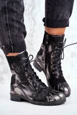 Women's Boots Maciejka Warm Leather Black