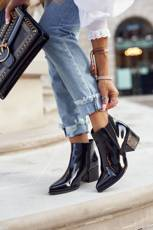 Women's Boots On Heel Sergio Leone Lacquered Black BT621