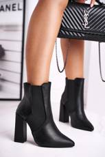 Women's Boots On Heel With Cuffs Black Good Vibes