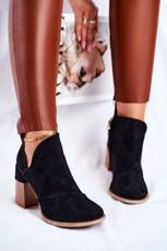 Women's Boots On High Hee Black Trimmed Meliori