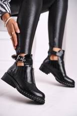 Women's Boots With Cut Out Black Joan