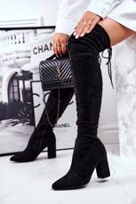 Women's High Boots Suede Black Milwa